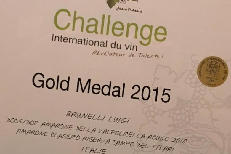 CHALLENGE INTERNATIONAL DU VIN: GOLD MEDAL FOR CAMPO DEL TITARI 2010!