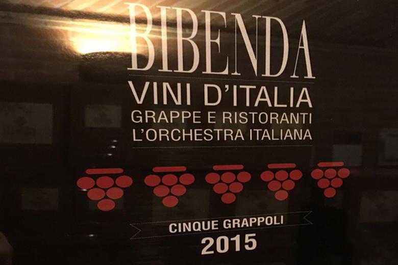 CINQUE GRAPPOLI 2015 PER IL CAMPO DEL TITARI 2009.