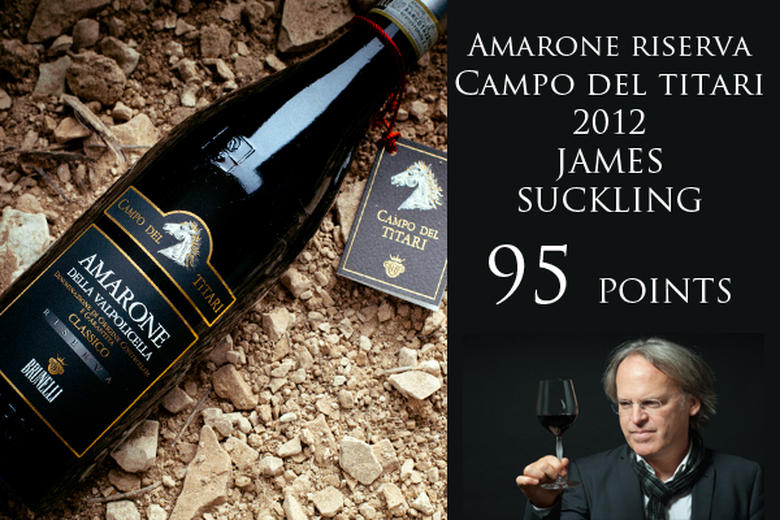 AMARONE CAMPO DEL TITARI 2012: 95 PUNTI JAMES SUCKLING (2017/2018)
