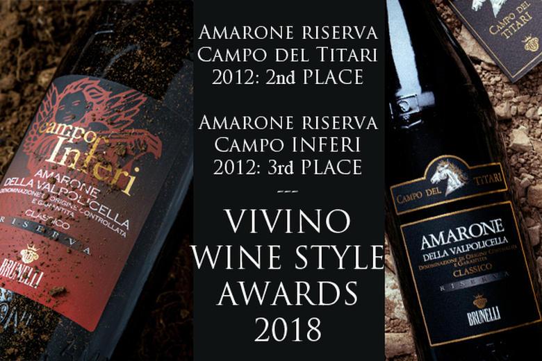 VIVINO WINE STYLE AWARDS 2018: SECONDO E TERZO POSTO