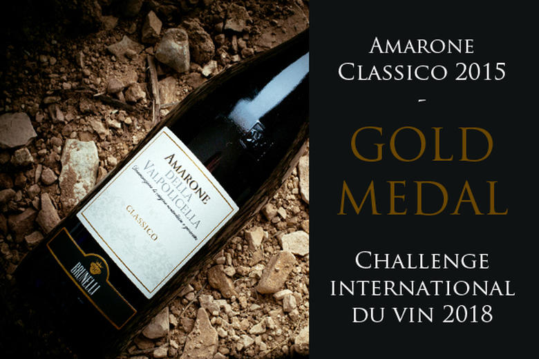 AMARONE CLASSICO DOCG 2015: GOLD MEDAL   CHALLENGE INTERNATIONATIONAL DU VIN 2018