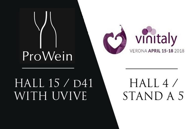 PROWEIN 2019 hall 15 / D41 & VINITALY hall 4 STAND A5