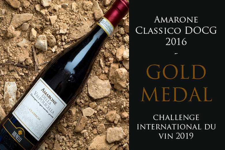 AMARONE CLASSICO DOCG 2016: GOLD MEDAL | CHALLENGE INTERNATIONATIONAL DU VIN 2019