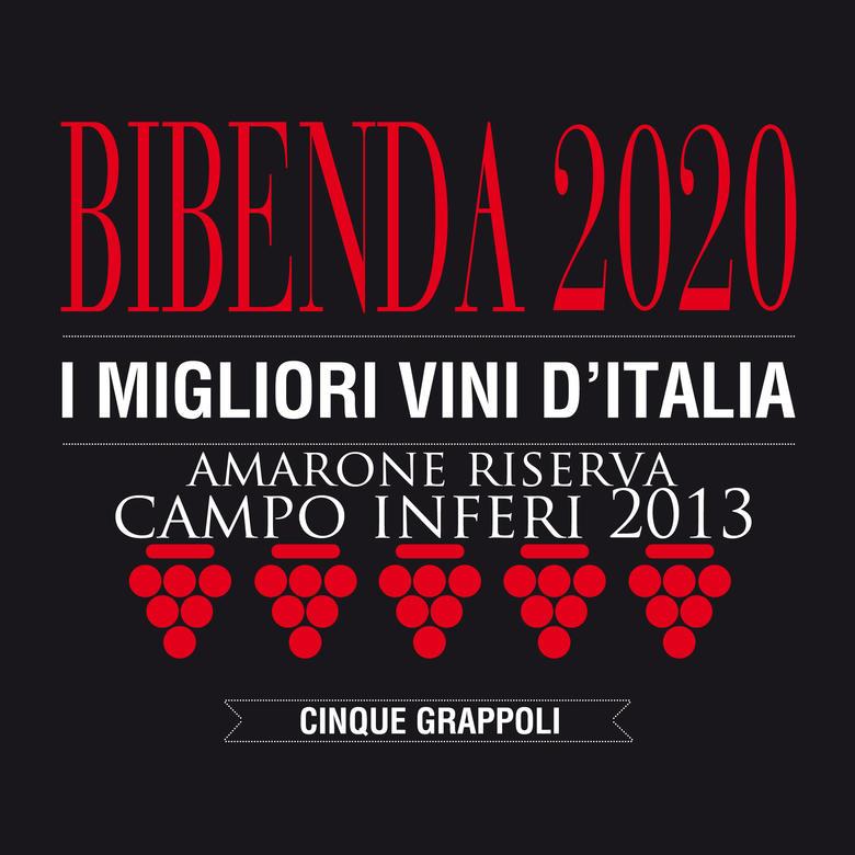 AMARONE CAMPO INFERI 2013: CINQUE GRAPPOLI 2020
